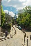 Ruta de l'Abreuvoir, Montmarte Fotografie Stock