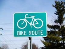 Ruta de la bici Fotografía de archivo