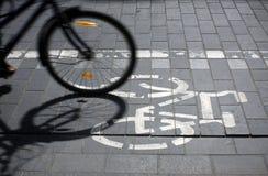 Ruta de la bicicleta Imágenes de archivo libres de regalías