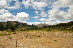 Ruta de los Siete Lagos. Panoramic view on the Ruta de los Siete Lagos close to Bariloche royalty free stock images