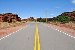 Ruta 40 de route en Cuesta de Miranda l'argentine Photographie stock