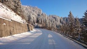 Ruta del invierno Imagen de archivo libre de regalías