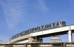 Ruta del tren en Chicago fotos de archivo libres de regalías