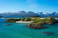 Ruta 862 en Troms, Noruega septentrional Imágenes de archivo libres de regalías
