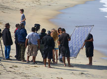 Ruta Madre filming on location at Imperial Beach Royalty Free Stock Image