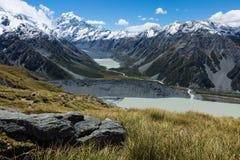 Ruta Nueva Zelanda de la choza de Mueller Fotos de archivo libres de regalías
