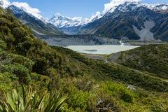 Ruta Nueva Zelanda de la choza de Mueller Imagenes de archivo