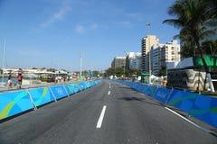 Ruta olímpica del camino de ciclo de Río 2016 de la Río 2016 Juegos Olímpicos en Rio de Janeiro Fotos de archivo libres de regalías