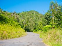 Ruta panoramica road in Puerto Rico. USA. this road is little used by tourists but allows to leave the tourist circuit and offers royalty free stock image