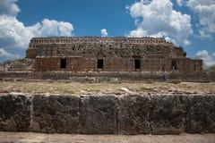 Ruta puuc tempel van Kabah stock afbeelding