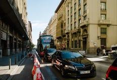 Ruta Roja Sightseeing Barcelona Hop sopra parte Barcellona Spagna immagini stock libere da diritti