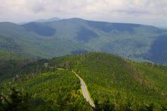 Ruta verde azul de Ridge Imágenes de archivo libres de regalías