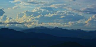 Ruta verde azul de Ridge Fotografía de archivo