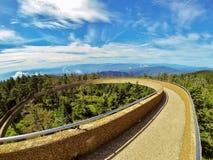 Ruta verde azul de Ridge Imagen de archivo