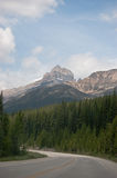 Ruta verde de Icefield, Alberta, Canadá Imagen de archivo libre de regalías