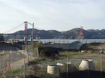 Ruta verde de Presidio, Doyle Drive anterior, llevando a puente Golden Gate, 2 Imágenes de archivo libres de regalías