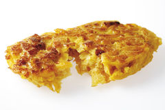 Rutabaga fritter, close up Stock Photography