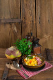 Rutabaga soup. A fresh and tasty Rutabaga soup Royalty Free Stock Photography