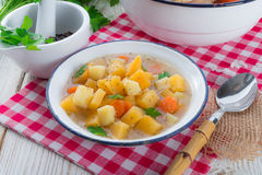 Rutabaga soup Stock Images