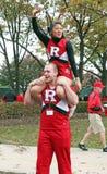 Rutgers Cheerleadern Lizenzfreie Stockfotografie