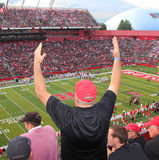 Rutgers Football Fan Stock Photo