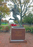Rutgers Football Player Statue Royalty Free Stock Image