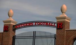 Rutgers-Fußball-Praxis-Standort Stockbild