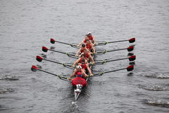 Rutgers races in the Head of Charles Royalty Free Stock Photography