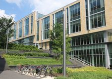 Rutgers School of Arts and Sciences. A new and modern school of arts and sciences building opened for 2018-19 school year at Rutgers University.The Building is royalty free stock photos