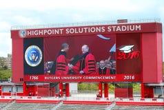 Rutgers Universiy avslutning Fotografering för Bildbyråer