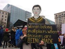 Ruth Bader Ginsburg Sign, Maart van Vrouwen, Washington, gelijkstroom, de V.S. stock foto
