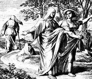 Ruth and Naomi Leaving Moab. 1) Sacred-biblical history of the old and New Testament. two Hundred and forty images Ed. 3. St. Petersburg, 2) 1873. 3) Russia 4) stock images