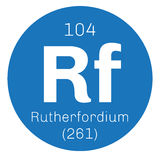 Rutherfordium chemical element Stock Images
