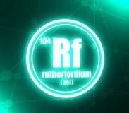 Rutherfordium chemisch element royalty-vrije illustratie