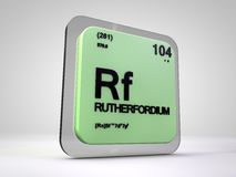 Rutherfordium - Rf - chemical element periodic table Royalty Free Stock Photos
