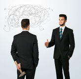 Ruthless business concept Stock Photos