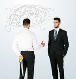 Ruthless business concept Royalty Free Stock Image