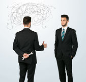 Ruthless business concept Stock Images