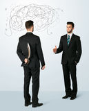 Ruthless business concept Stock Image