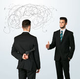 Ruthless business concept Royalty Free Stock Photos