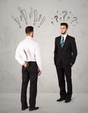 Ruthless business handshake Stock Photography