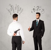 Ruthless business handshake Royalty Free Stock Photography