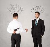 Ruthless business handshake Stock Image