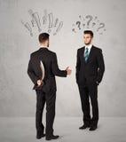 Ruthless business handshake Royalty Free Stock Photo