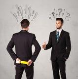 Ruthless business handshake Stock Photos