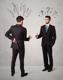 Ruthless business handshake Royalty Free Stock Images