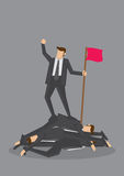 Ruthless Victory Business Concept Vector Illustration Royalty Free Stock Image