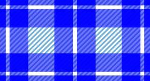 Rutig bakgrund för blå och vit borddukgingham Textur f arkivbild