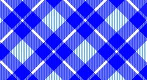 Rutig bakgrund för blå och vit borddukgingham Textur f royaltyfria bilder