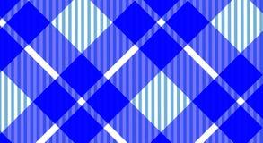 Rutig bakgrund för blå och vit borddukgingham Textur f royaltyfri bild